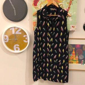 Banana Republic sleeveless parrot print dress, 14